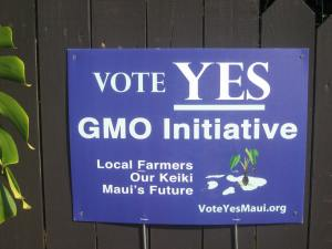 GMO was outlawed on Kawai, is an issue throughout Hawaii.